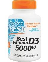 Doctors Best Witamina D3 5000IU 180 kaps.