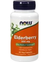 NOW FOODS Elderberry (Bez czarny) 500mg 60 weg.kaps.