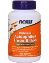 NOW FOODS Stabilized Acidophilus Three Billion 180 tab.