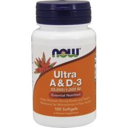 NOW FOODS Ultra A & D3 25,000/1,000 IU 100 kaps.
