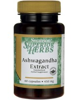 SWANSON Ashwagandha Extract 60 kaps.