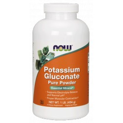 NOW FOODS Potassium Gluconate 454 g