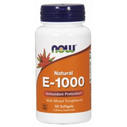 NOW FOODS Witamina E-1000 50 kaps.