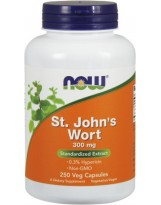 NOW FOODS St. Johns Wort 300mg 250 vcaps.