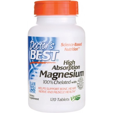 Doctors Best High Absorption Magnesium 120 tabl.