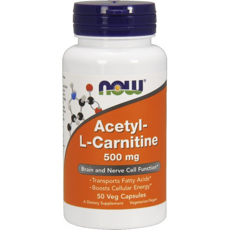 NOW FOODS Acetyl L-Carnitine 500 mg 50 kaps.
