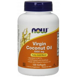 NOW FOODS Coconut Oil Virgin 1000mg 120 gels.