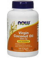 NOW FOODS Coconut Oil Virgin 1000mg 120 kaps.