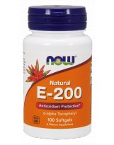 NOW FOODS E-200 Natural 100 kaps.
