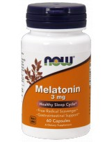 NOW FOODS Melatonina 3mg 60 kaps.
