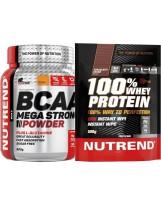Zestaw NUTREND BCAA 500g + 100% Whey 500g