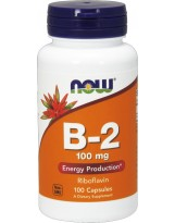 NOW FOODS Witamina B-2 (Riboflavin) 100 mg 100 kaps.