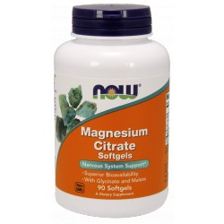 NOW FOODS Magnesium Citrate Softgels 90 kap.żel.