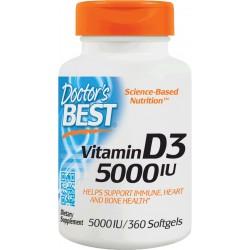 Doctors Best Witamina D3 5000IU 360 kaps.