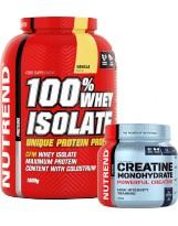 Zestaw NUTREND Whey Isolate 1800g Czekolada + NUTREND Monohydrat kreatyny 300g