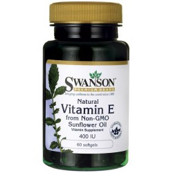 SWANSON Natural Vitamin E from Non-GMO Sunflower Oil 60 kap.żel.