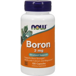 NOW FOODS Boron 3mg 100 kaps.
