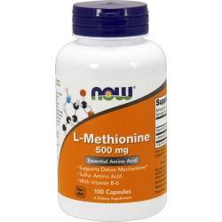 NOW FOODS L-Methionine 500 mg 100 kaps.