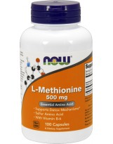 NOW FOODS L-Methionine 500 mg 100 kaps.