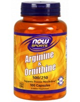 NOW FOODS Arginine & Ornithine 100 kaps.