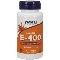 NOW Foods Witamina E-400 100 gels.