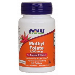NOW FOODS Methyl Folate 1000mcg 90 tabl.
