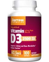 JARROW FORMULAS Witamina D3 2500IU 100 gels.