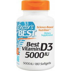 Doctors Best Witamina D3 5000IU 180 kaps.