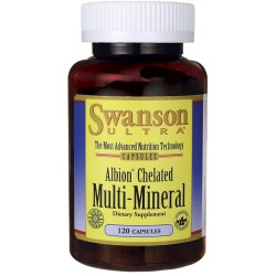 SWANSON Albion Chelated Multi-Mineral 120 kaps.
