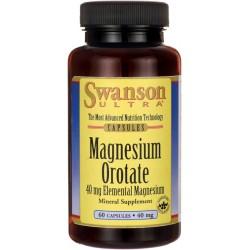 SWANSON Magnesium Orotate 40mg 60 kaps.