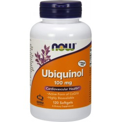 NOW FOODS Ubiquinol 100 mg 120 gels.