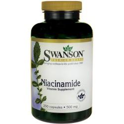 SWANSON Niacinamide 500mg 250 kaps.