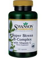 SWANSON Super Stress B-Complex 100 kaps.