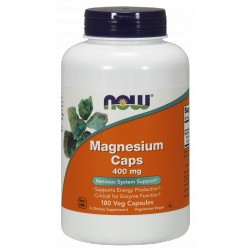 NOW FOODS Magnesium 400 mg 180 weg.kaps.