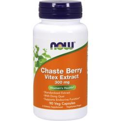 NOW FOODS Chaste Berry Vitex Extract 300mg 90 weg.kaps.