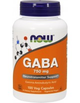 NOW FOODS GABA 750mg 100 vcaps