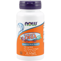 NOW FOODS DHA Kids Chewable 100mg 60 gels.