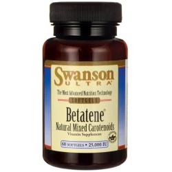 SWANSON Betatene 25000 IU 60 gels.