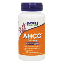 NOW FOODS AHCC 500mg 60 weg.kaps.