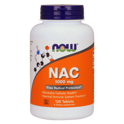 NOW FOODS NAC N-Acetylocysteina 1000mg 120 tablets