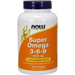NOW FOODS Super Omega 3-6-9 180 żel.