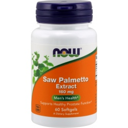 NOW FOODS Saw Palmetto Extract 160 mg 60 gels.