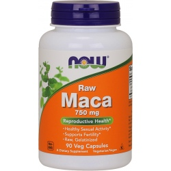 NOW FOODS MACA Raw 6:1 750mg 90 vcaps.