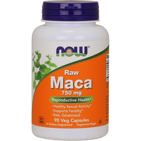 NOW FOODS MACA Raw 6:1 750mg 90 weg.kaps.