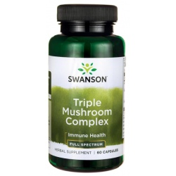 SWANSON Triple Mushroom Complex 60 kaps.