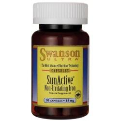 SWANSON SunActive Iron 15mg 90 kaps.