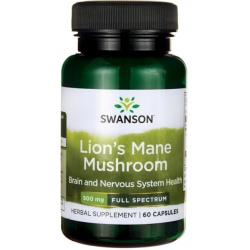 SWANSON Lion's Mane Mushroom 60 caps.