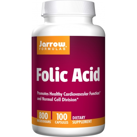 JARROW FORMULAS Folic Acid 100 kaps.