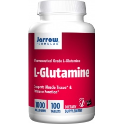 JARROW FORMULAS L-glutamine 1000mg 100 tabl.