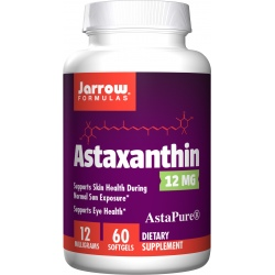 JARROW FORMULAS Astaxanthin 12mg 60 gels.